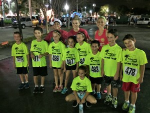 Kids Complete Session One of the Kids Run Club at the Holiday Mile Run in Boca Raton in December 2014.
